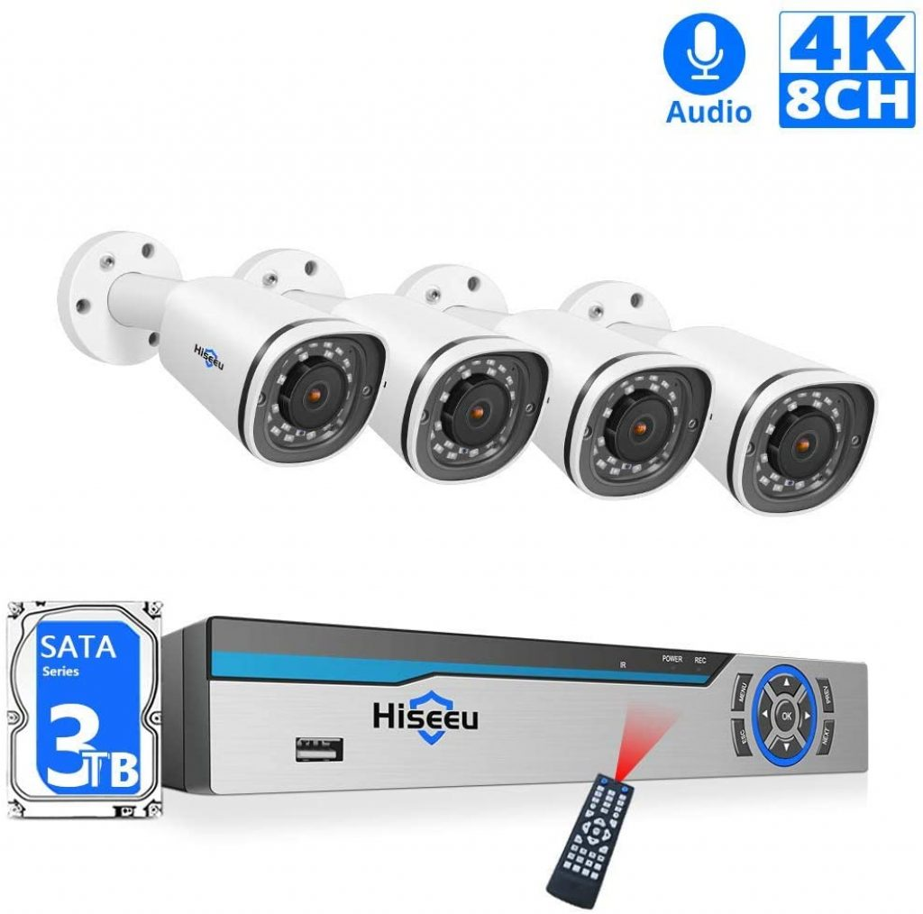 【8CH Expandable】 4K PoE Camera Security System,