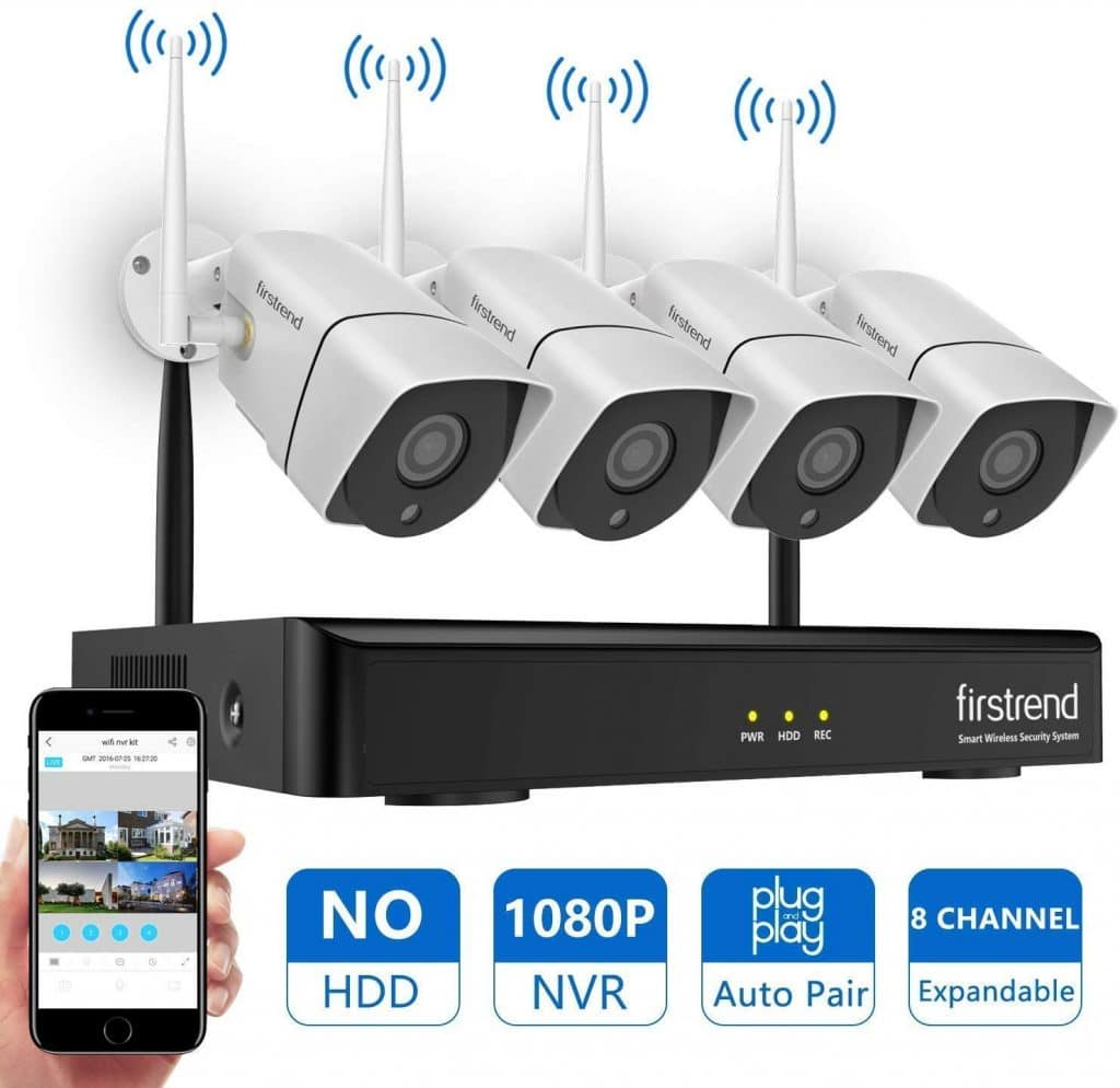 Firstrend 8CH 1080P NVR Security Camera System,