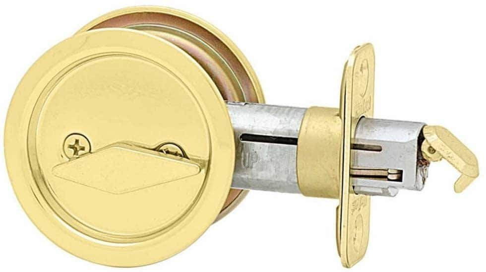 Kwikset 335 Round polished brass