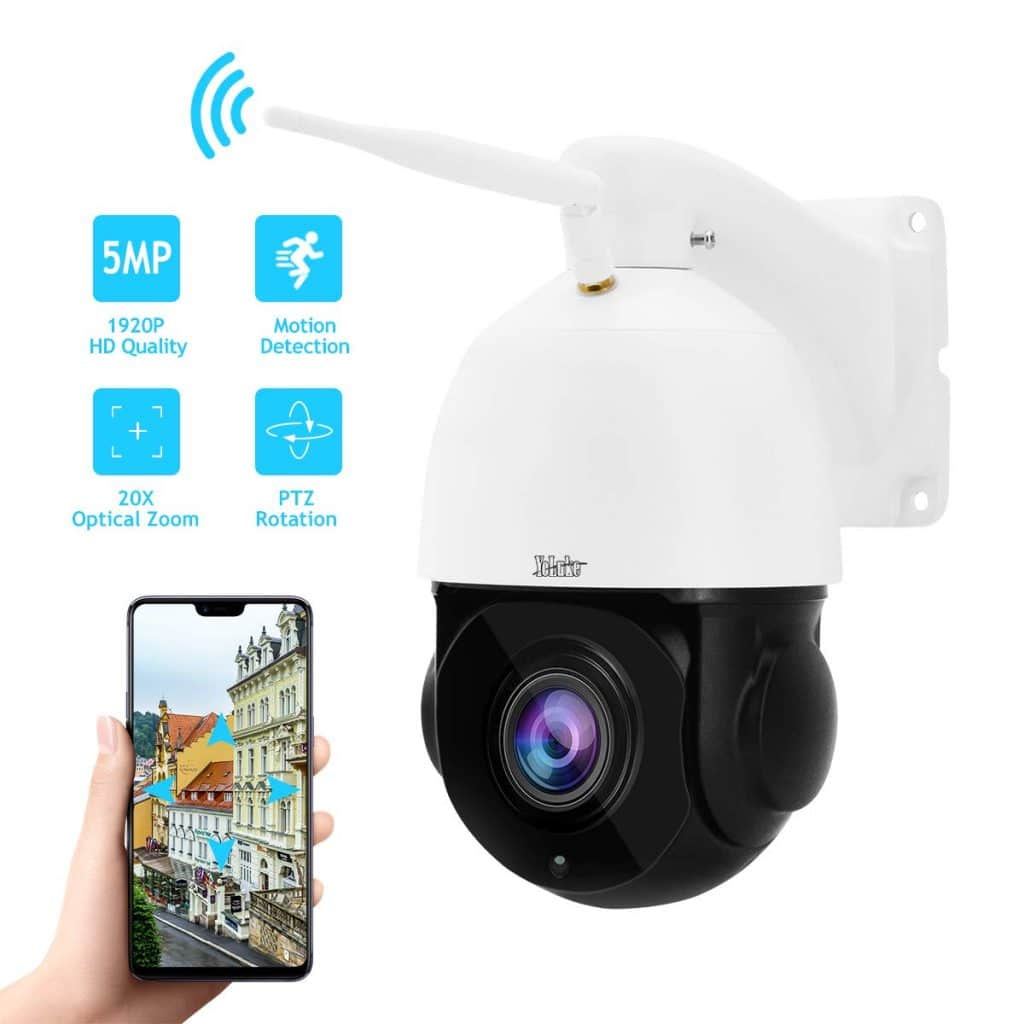 Outdoor PTZ WiFi 5MP 20X Optical Zoom Wireless IP Camera by YoLuke