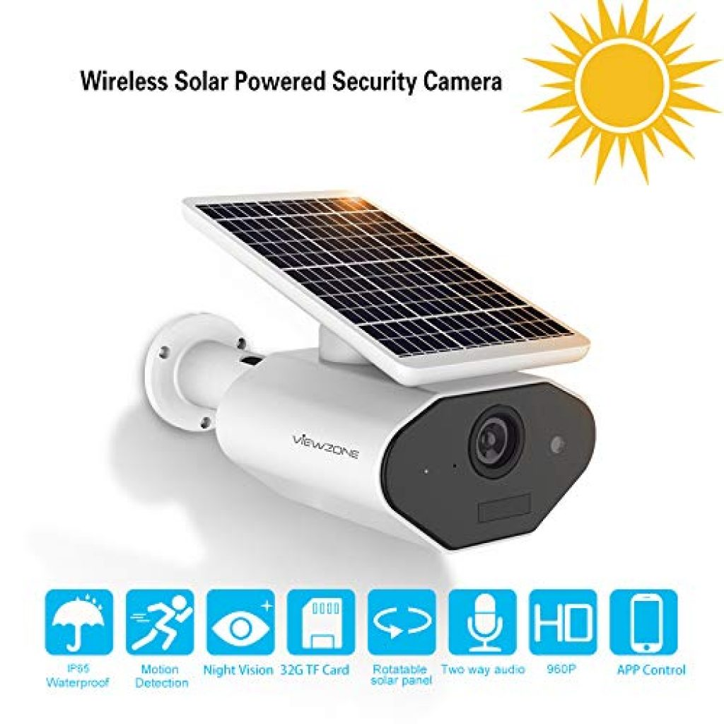 ViewZone Solar Powered Security Camera