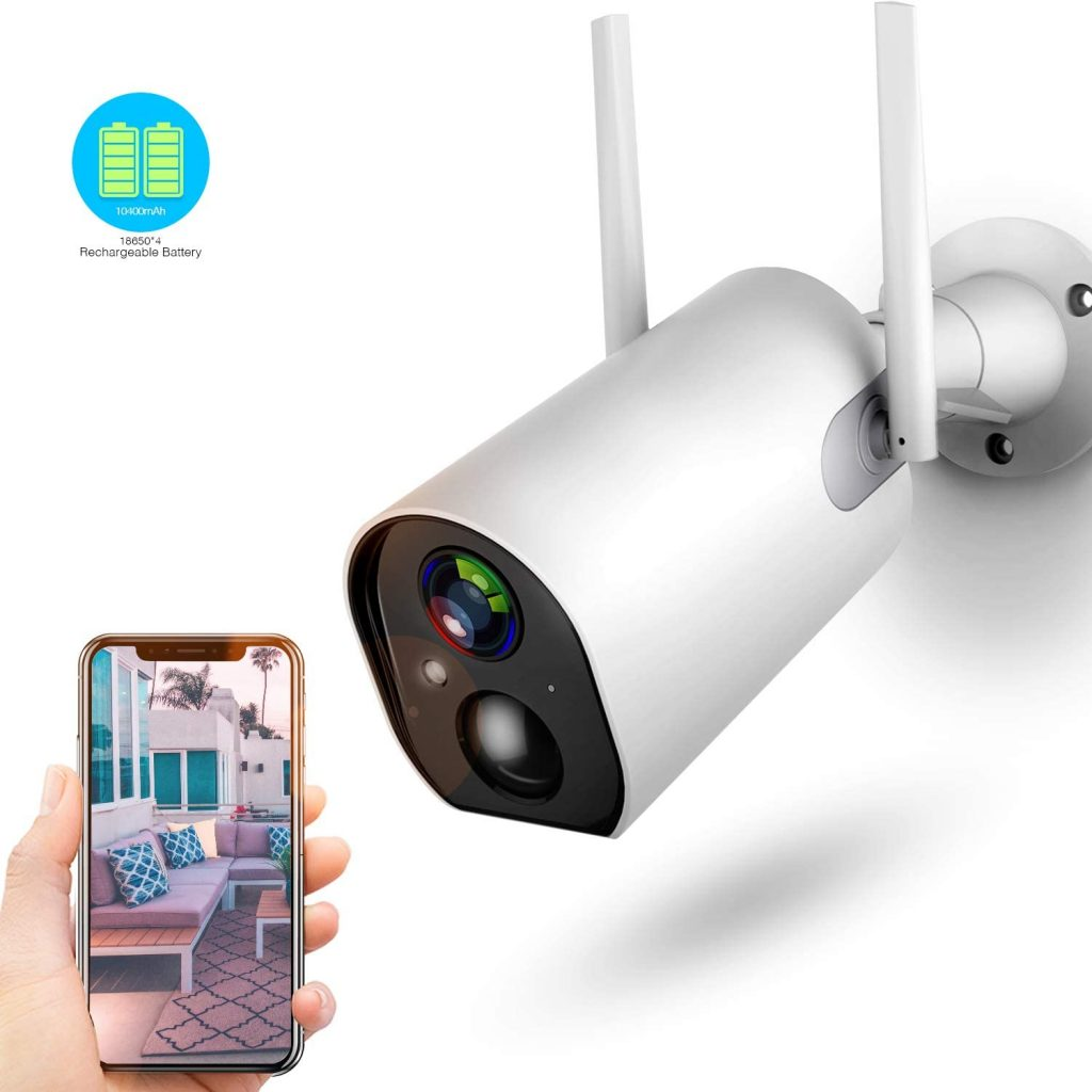 Wireless Outdoor Security Camera by Zeetopin