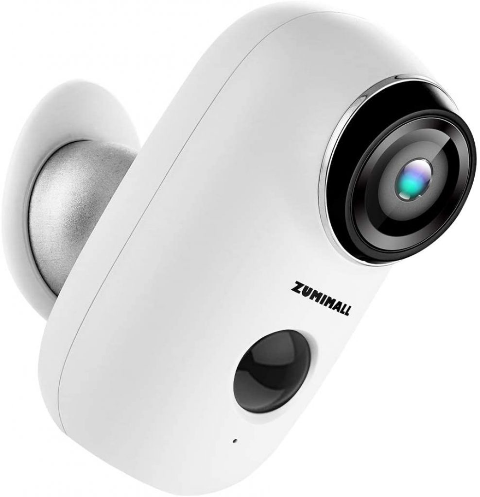 Wireless Rechargeable Battery Powered WiFi Camera by ZUMIMALL