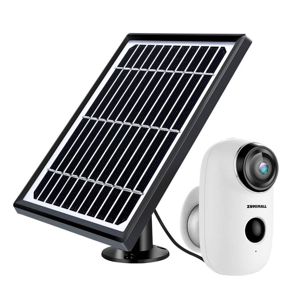 Zumimall Solar Powered Wireless Indoor/Outdoor Camera