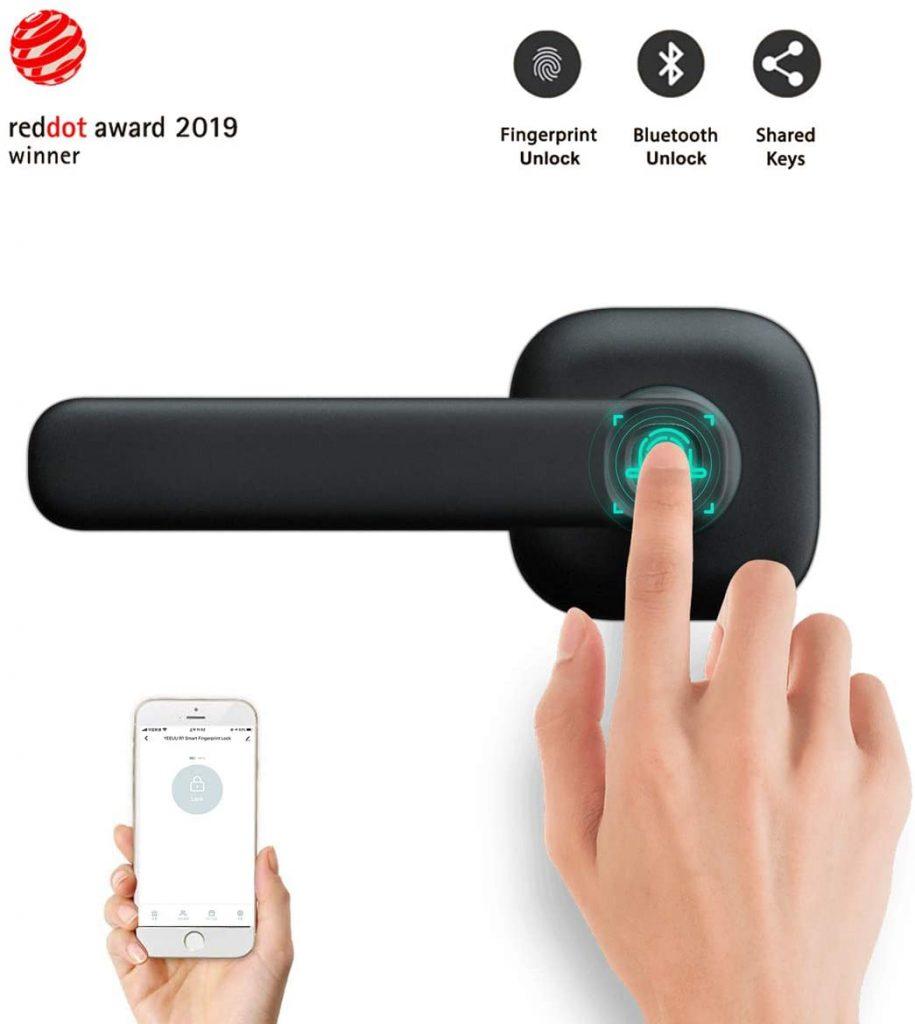 Dowerme Keyless Entry Door Lock Deadbolt with Fingerprint Unlock