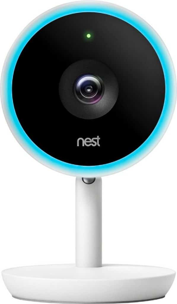 Google - Nest Cam IQ Indoor Full HD WiFi Home Security Camera - White