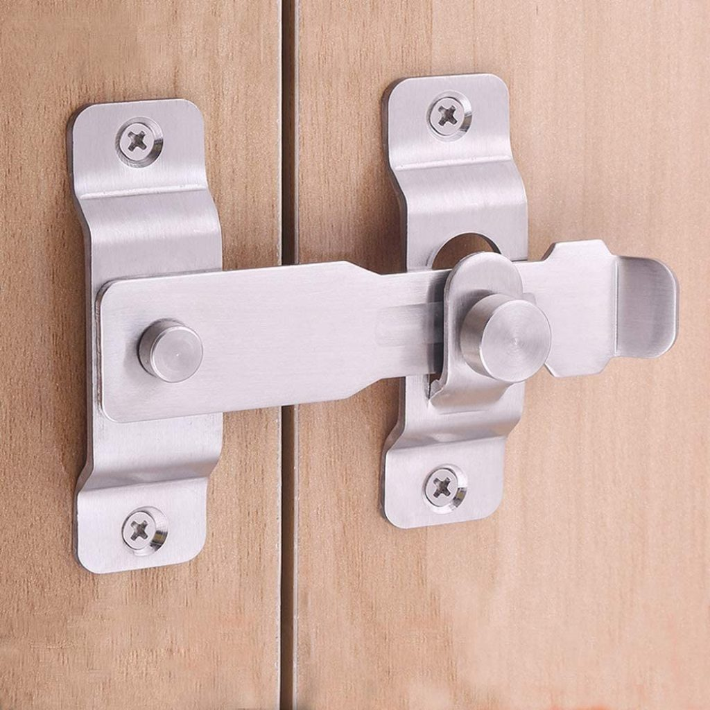 1. Hasp and Padlock (To lock from outside)