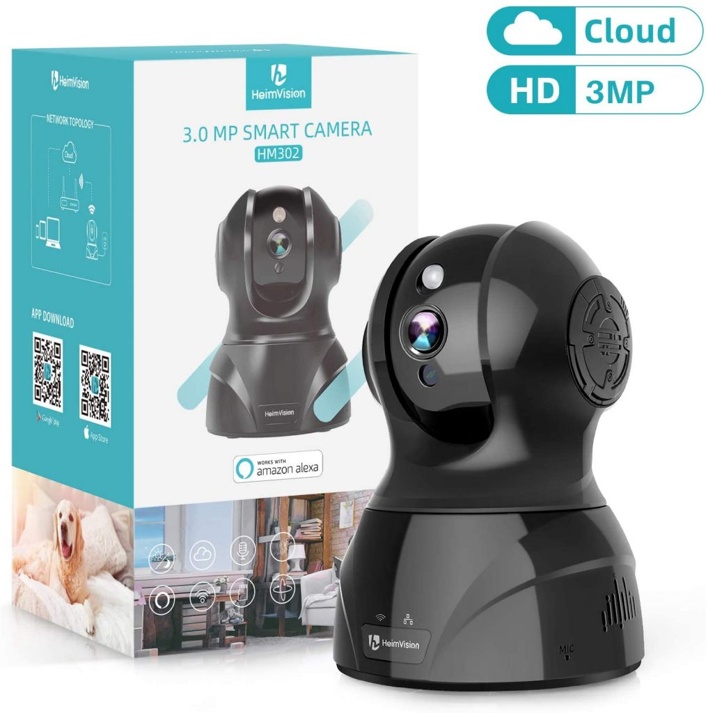 HeimVision 3MP Wireless Security Camera, HM302 Indoor WiFi Pet Camera