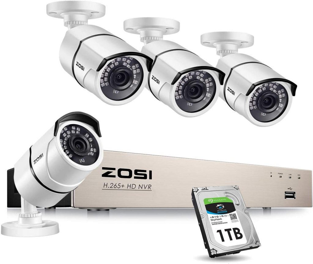 ZOSI PoE Home Security Camera System