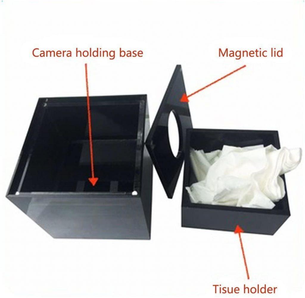 hide camera in a tissue box