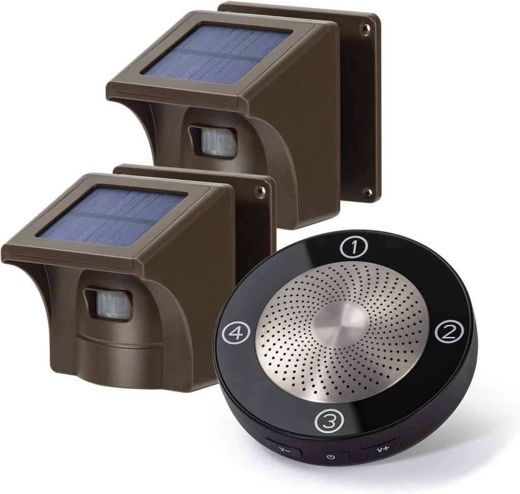 EMacros Long Range Solar Wireless Driveway Alarm